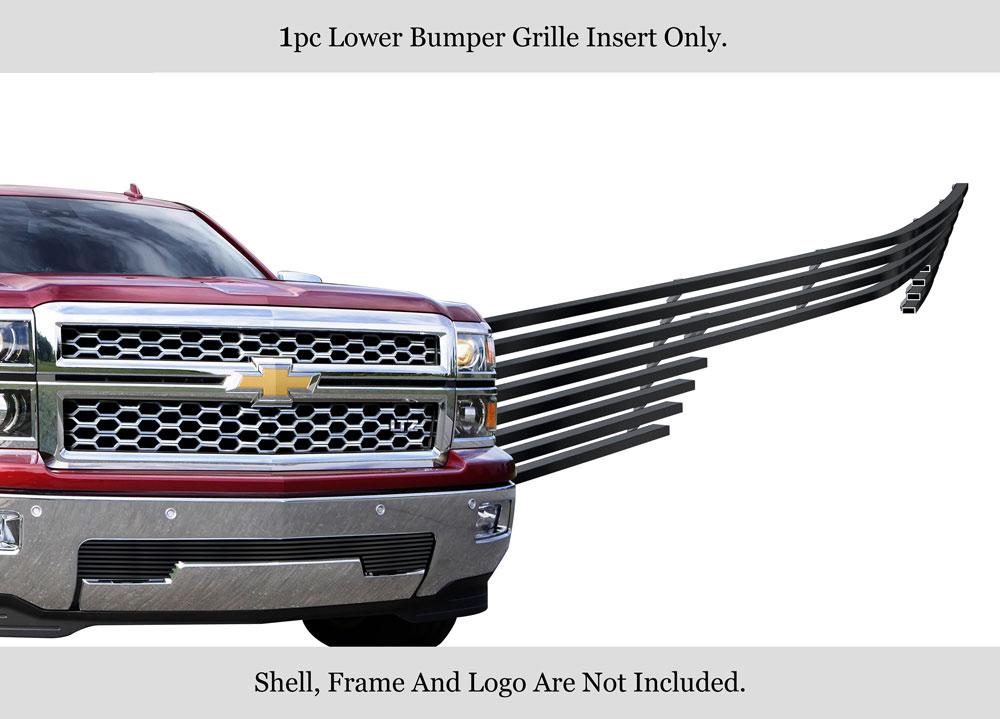 Fits 2014-2015 Chevy Silverado 1500 Black Billet Grille Inserts